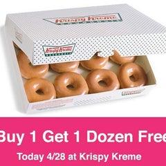 Photo taken at Krispy Kreme Doughnuts by Justin J. on 4/28/2014