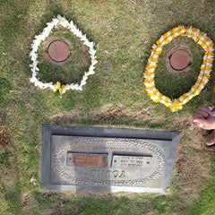Photo taken at Diamond Head Memorial Park Cemetery by Alisa Y. on 5/28/2013
