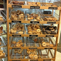 Photo taken at Moe's Broadway Bagels by Tracy M. on 12/19/2012