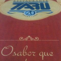 Photo taken at Tabu Restaurante by Ana Gabriela C. on 3/31/2013