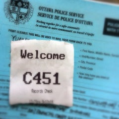 Photo taken at Ottawa Police Service by Rachel G. on 9/12/2014