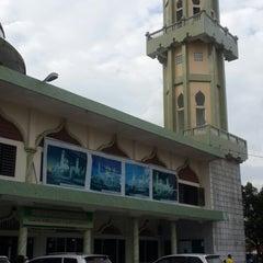 Photo taken at Masjid Agung Darul Falah by Mario A. on 12/30/2013