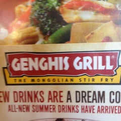 Photo taken at Genghis Grill by April M. on 12/10/2012