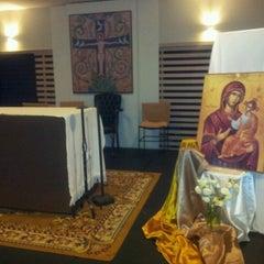 Photo taken at Centro de Evagelização Comunidade Católica Shalom by Willian A. on 1/12/2013