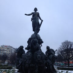 Photo taken at Place de la Nation by Romeo P. on 1/22/2013