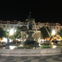 Photo taken at Rossio by Daniel A. on 12/9/2012