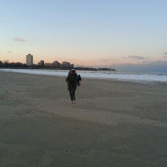 Photo taken at 63rd Street Beach by Kimberly G. on 1/21/2013