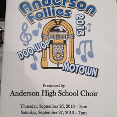Photo taken at Anderson High School by Giselle L. on 9/27/2013