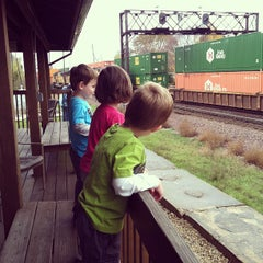 Photo taken at Rochelle Railroad Park by Seth C. on 10/23/2012