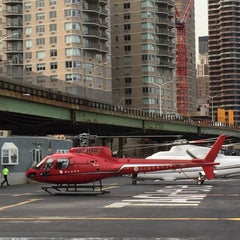Photo taken at East 34th Street Heliport (TSS) by Gerard M. on 7/3/2015