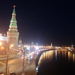 Photo taken at Большой Каменный мост / Bolshoy Kamenny Bridge by Julia G. on 3/29/2013