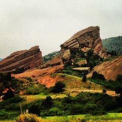 Photo taken at Red Rocks Park & Amphitheatre by Jonathan F. J. on 6/13/2013