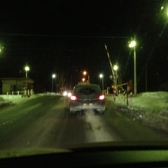 "Photo taken at Переезд ""Новодачная"" by Natalia B. on 12/12/2012"