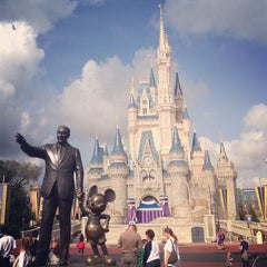Photo taken at Cinderella Castle by Brett S. on 1/9/2013