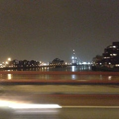 Photo taken at Vauxhall Bridge by Mihhail R. on 12/13/2012