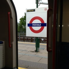 Photo taken at Perivale London Underground Station by Mihhail R. on 5/20/2013