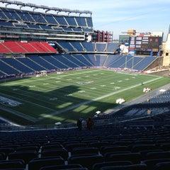 Photo taken at Gillette Stadium by Brian K. on 1/17/2013