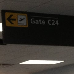 Photo taken at Concourse C by Tim W. on 10/31/2012