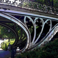 Photo taken at Central Park - Gothic Bridge by Marc S. on 6/29/2014
