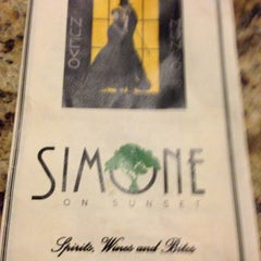 Photo taken at Simone on Sunset by Carrie L. on 3/31/2013