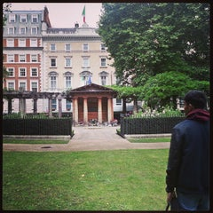 Photo taken at Grosvenor Square by Gaz H. on 9/12/2013
