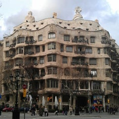 Photo taken at Passeig de Gràcia by Sergey S. on 3/16/2013