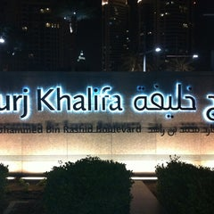 Photo taken at Burj Khalifa / Dubai Mall Metro Station محطة مترو برج خليفة / دبي مول by Jero on 4/13/2013