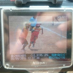 Photo taken at Lapangan Softball / Baseball Lodaya by Chie S. on 9/6/2015