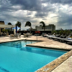 Photo taken at Hilton Hotel Rooftop Pool by Catherine C. on 3/25/2013