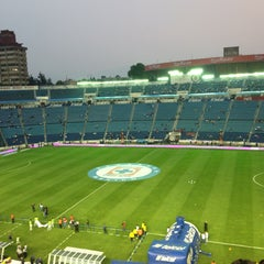 Photo taken at Estadio Azul by Argelia P. on 5/10/2013