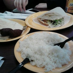 Photo taken at Kibberia Middle Eastern Restaurant & Cafe by Kayo O. on 3/23/2013
