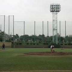 Photo taken at 青山運動場 野球場 by 宮本 紗. on 7/30/2013