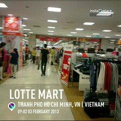 Photo taken at Lotte Mart by Ron N. on 2/3/2013