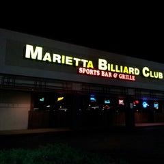 Photo taken at Marietta Billiard Club by marco r. on 10/7/2012