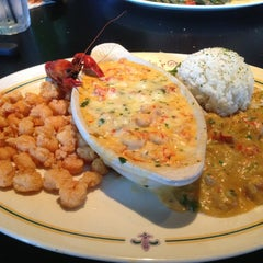 Photo taken at Babin's Seafood House by Dan H. on 3/19/2013