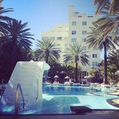 Photo taken at The Raleigh Miami Beach by Chris K. on 2/4/2013