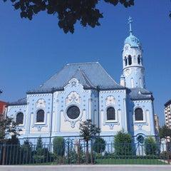 Photo taken at Kostol sv. Alžbety (Modrý kostolík) by Aj M. on 9/2/2015