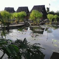 Photo taken at Kampung Sumber Alam by Utut S. on 5/12/2013