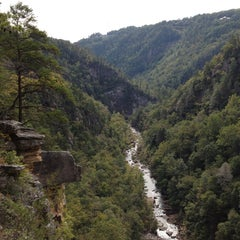 Photo taken at Tallulah Gorge State Park by Jean B. on 10/13/2013