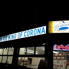 Photo taken at The Lemon Ice King of Corona by Jaqui on 4/20/2013