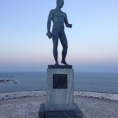 Photo taken at Άγαλμα του Μπρουκ (Brook's Statue) by Christos P. on 8/21/2013