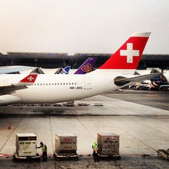 Photo taken at Swiss (LX) Check-In Area by Thitiwat T. on 4/6/2014