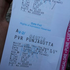 Photo taken at PVR Cinemas by uday k. on 11/10/2013