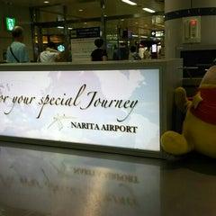 Photo taken at JR 成田空港(第1旅客ターミナル)駅 (JR Narita Airport (Terminal 1) Sta.) by Koji M. on 7/26/2015