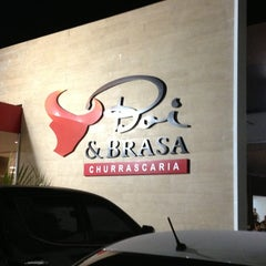 Photo taken at Churrascaria Boi & Brasa by Thiago S. on 7/16/2013