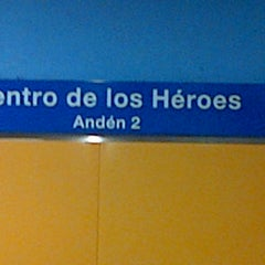 Photo taken at Estación Centro de los Héroes by Federico R. on 8/4/2013