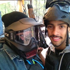 Photo taken at Cousins Paintball Staten Island by Lisa W. on 4/28/2013