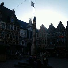 Photo taken at Sint-Veerleplein by Dylan D. on 1/30/2013