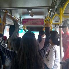 Photo taken at Halte TransJakarta Ancol by Bintang A. on 1/2/2013