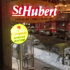 Photo taken at Rôtisserie St-Hubert by Dave M. on 4/13/2013